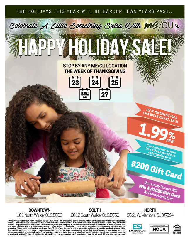 Happy Holiday Sale flyer