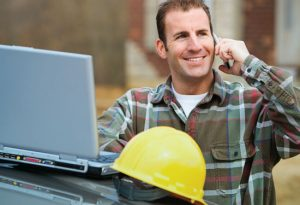Contractor dong banking online and with a mobile phone