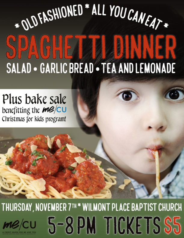 Little kid eating spaghetti.