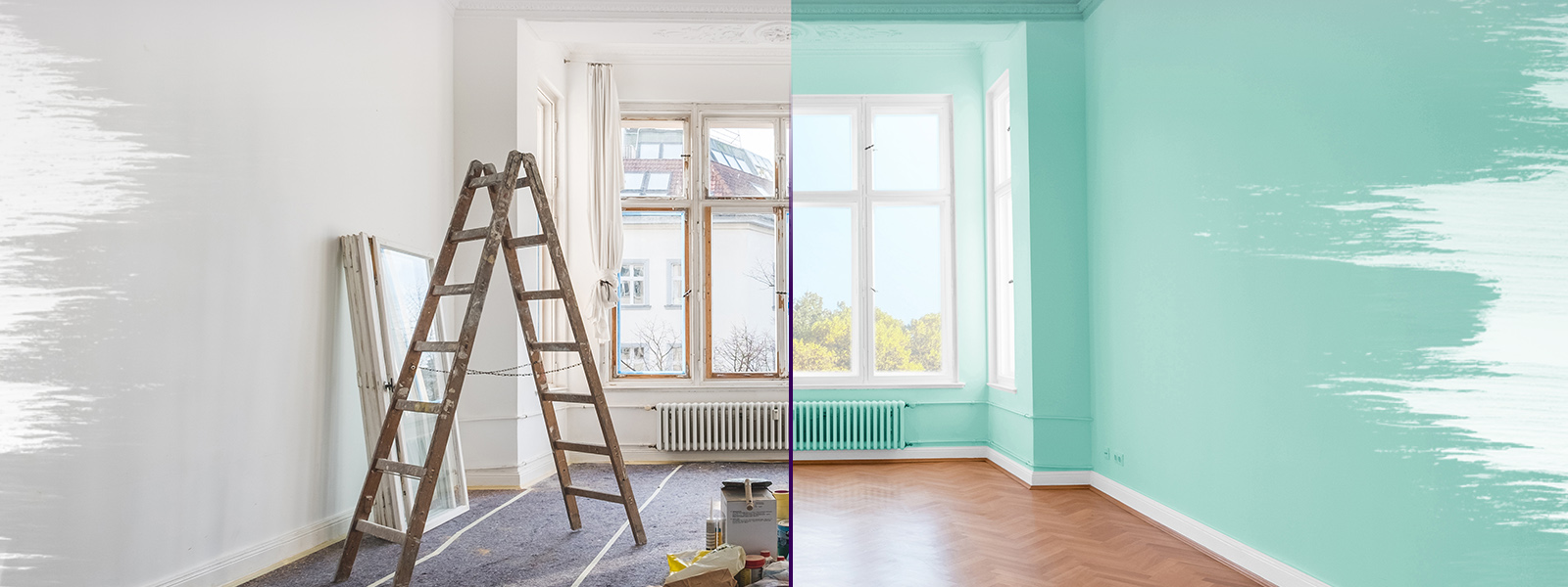 Home remodel comparing old to new