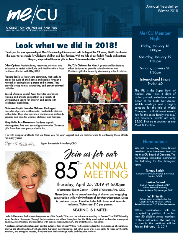 Newsletter Cover Example