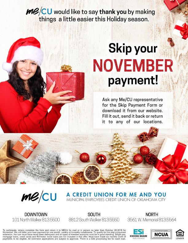 November 2018 Skip-A-Payment Form